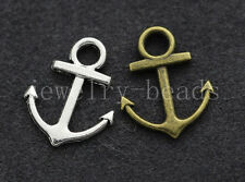 50/300pcs Tibetan Silver two-sided anchor Jewelry Finding Charms Pendant 19x15mm