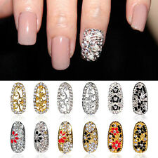 12 Styles 3D Rhinestone Alloy Metal Phone Nail Art Tips Glitters DIY Decoration