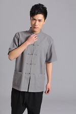 ZooBoo Fashion Short Sleeve Cotton Tang Suit With Plate Button Uniform