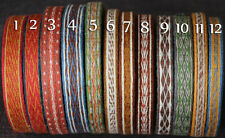 Card Woven Tablet Weaving Linen  Braid 12 Patterns Vikings Saxons Medieval SCA