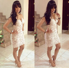 New Sexy Women Casual Sleeveless Lace Party Evening Cocktail Short Mini Dress