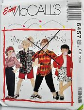 McCalls Sewing Pattern # 6457 Girls or Boys Shirt, Pants, and Shorts Choose Size