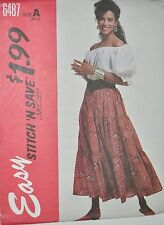 McCalls Sewing Pattern # 6487 Women's Peasant Top and Tiered Skirt Choose Size
