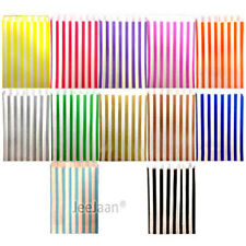 """5"""" x 7"""" Candy  Stripe Paper Bags Sweet Gift Shop Party Birthday Cake Celebration"""
