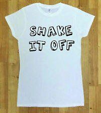 Women T- Shirt Shake it Off Funny Hipster Indie Swag Tumblr Slogan Top Fashion