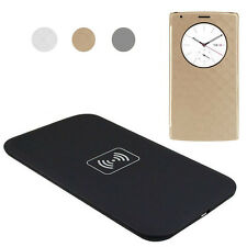 Quick Circle Leather Case Cover + Qi Wireless Charger Charging Pad Mat for LG G4