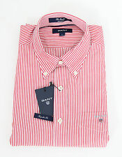 Gant Hemd Shirt The Banker gestreift striped REGULAR FIT Rot Red NEU