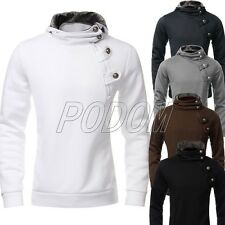 PODOM Mens Hooded Top XS M L Hoodies Hoody Jumper Sweatshirt Slim Jacket Coat