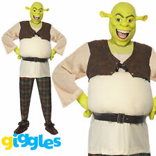 Adult Mens Shrek Ogre Costume Halloween World Book Day Week Fancy Dress Outfit