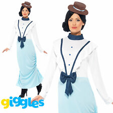 Posh Victorian Costume Mary Poppins World Book Day Week Womens Fancy Dress