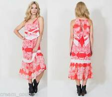 "NEW Sugar Lips Sugarlips Coral ""Prairie Ride"" Layered Tank Maxi Dress XS S M L"