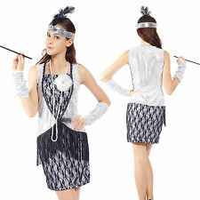 Sexy 1920s Retro Sequined Lace Charleston Gatsby Flapper Fancy Dress Club Wear