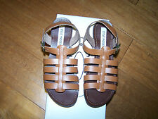 Steve Madden Anit Sandals Womens Leather Brown Flats    8.5 ,   9   NEW IN BOX