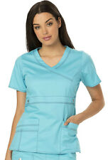 Scrub Dickies Gen Flex Youtility Mock Wrap Top 817355 IcyTurquoise FREE SHIPPING