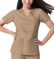Scrub Dickies Gen Flex Youtility Mock Wrap Top 817355 Khaki  FREE SHIPPING