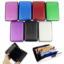 Deluxe Aluma Wallet Credit Card Holder Aluminum Case Protect Scanning
