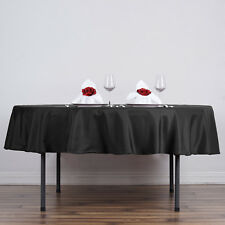 """6 pcs 90"""" Round Polyester Tablecloth Wedding Party Table Linens Wholesale SALE"""