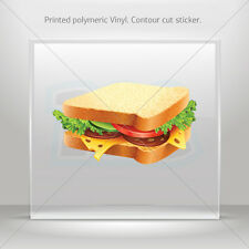 Stickers Decal Appetizing Sandwich With Cheese And Sausage car  mtv XR325