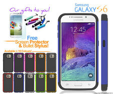 Shock-Proof Heavy Duty Defender Durable Cover For Samsung Galaxy S6 & Stylus