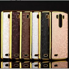 Luxury New Hexagon Gold Chrome Frame Bumper Hard Case Cover Skin for LG G2/G3