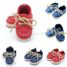 Toddler Infant Crib Shoes Baby Boys Girls Lace-up Sneaker Soft Bottom Shoes M89