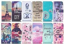 Cute Fashion Printed PU Flip Wallet Stand Leather Case Hybrid Soft Skin Cover