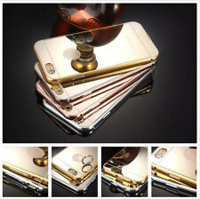 Luxury Aluminum Ultra-thin Metal Mirror Back Case Cover for iPhone 5 5S 6 Plus