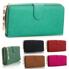 Fashion New Ladies Faux Leather Designer Zip Long Coin Purse Womens Wallet Card