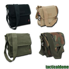 Vintage Military Army Messenger Field Shoulder Tote Bag Pack Sturdy Canvas NEW
