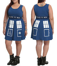 new Doctor Who TARDIS dress Her Universe blue costume cosplay plus size 3X 4X 5X
