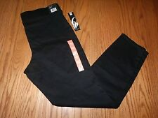 NWT Womens NINE WEST PULL ON SKINNY PANTS JEANS STRETCH SIZE 14 BLACK