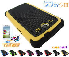 Defender Shock-Proof Heavy Duty Protective Case Cover Samsung Galaxy S3 + Stylus