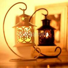 White/Black Moroccan Hanging Tea Light Candle Holder Lantern Candlestick Wedding