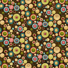 Why Brown dots  By the yard Leanne Anderson  fabric Free US SHIPPING