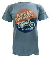 Harley-Davidson Men's Short Sleeve T-Shirt, Circle Moto Motorcycle Graphic, Blue
