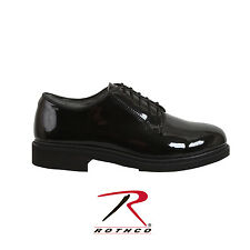 Rothco 5055 Uniform Hi-Gloss Oxford Dress Shoe - Black
