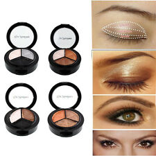 Smoky cosmetic 3 colors natural matte eyeshadow makeup eye shadow palette Naked