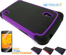 Nexus 4 Tough Defender Heavy Duty Shock-Proof Protective Case Cover For LG E960
