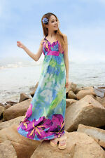 Blue Fashion Maxi Dress with Deep V-Neck and Adjustable Spaghetti Straps #901BL
