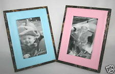 MOSSY OAK CAMO LEATHER PICTURE FRAME - PINK OR BLUE
