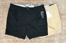 "NWT $44 Club Room Men's Twill Double Pleat Pleated Shorts 6"" Inseam"