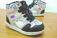 TODDLER INFANT GIRLS GLAM PIE PASTRY LIGHT UP TRAINERS UK 7     ( PE111601I )