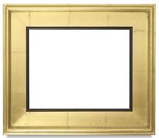 "CLASSIC MODERN STYLE PICTURE PAINTING FRAME PLEIN AIR WOOD GOLD BLACK 3.25"" WIDE"