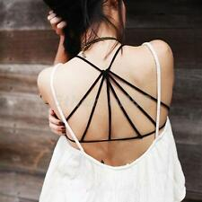 Women Sexy Padded Bra Bralette Crop Tops Cage Back Halter Tank Vest Beach Blouse