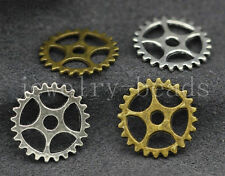 80/400pcs Vintage Tone Gear Cog Wheel Watch Part Charms jewelry Steampunk 15mm