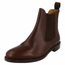 Mens Loake Brown Leather Ankle Boots Style - Hickstead