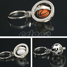 Basketball/Football/Golf Rotating Key Ring Keychain Creative Gift Keyring Chain