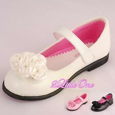 Mary Janes Patent Shoes Wedding Flower Girl Pageant Size Toddler 9- Kid 2 GS001