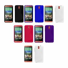 CASE COVER S-LINE SILICONE GEL AND SCREEN PROTECTOR FOR HTC DESIRE 610