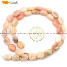 "Nautral Oval Pink Opal DIY Gemstone Jewelry Making Loose Beads Strand 15"",8x10mm"